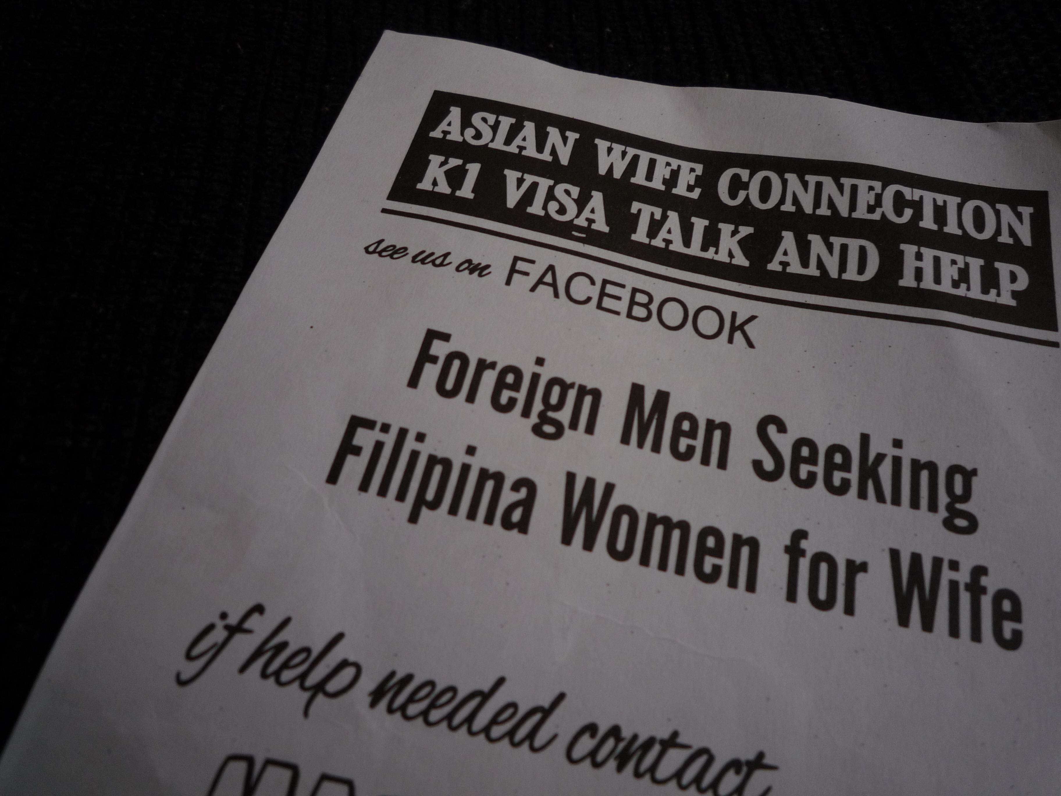 「外国人男性が妻としてフィリピン女性を探しています」