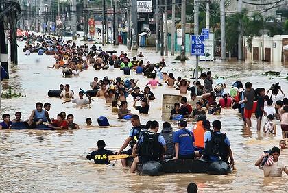 2015年自然災害の被害を受けた国、中国、アメリカ、インドに続き、フィリピン第4位